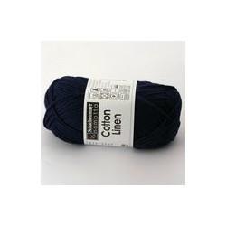 Cotton Linen - granatowa