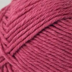 Cotton Linen - ciemny róż